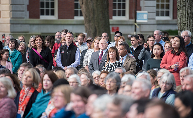 The crowd at the Neilson groundbreaking